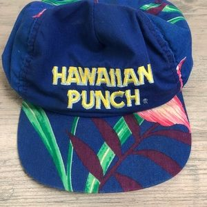 Vintage 90s Hawaiian Punch Floral Tropical Hat
